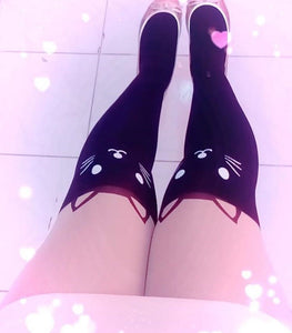 CAT KNEE HIGH STOCKINGS