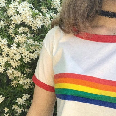 RAINBOW STRIP TEE-SHIRT