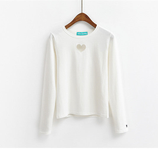HOLLOW HEART LONG SLEEVE SHIRT