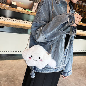 CLOUD CLUTCH/CHAIN SHOULDER BAG