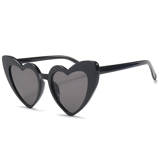 CAT EYE HEART SUNGLASSES