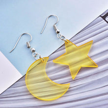 STAR MOON EARRING