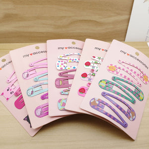 6 PEICES CUTE PRINTING HAIR CLIPS