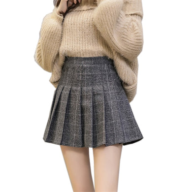 WOOLEN PLAID SKIRTS