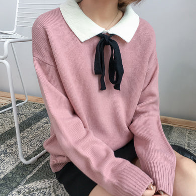 COLLARED PREPPY SWEATER