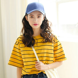 CASUAL STRIPED TEE-SHIRT