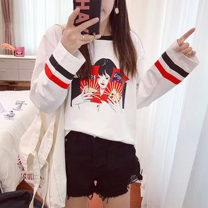 CARTOON DORITO GIRL SWEATER