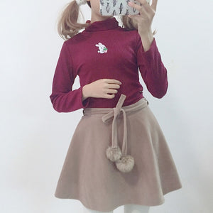 BUNNY EMBROIDERED SWEATER