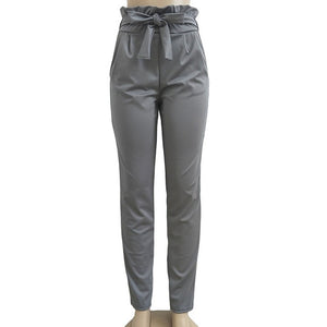 HIGH WAIST ELASTIC PANTS
