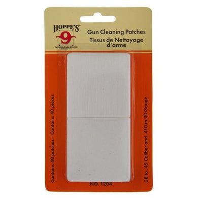 Copy of Hoppe's 9 - Cleaning Patches (40pk)  .38 - .45 Caliber