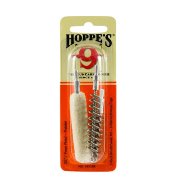 Hoppe's 9 - 3 Piece Pistol Brush Set .357 Cal / 9mm