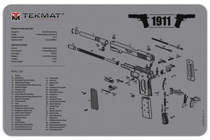 "Tekmat - 1911 Cleaning Mat 11"" x 17"""