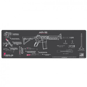 Cerus Gear - AR-15 Instructional Promat / Grey + Pink