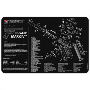 "Tekmat - Ruger Mark IV Cleaning Mat 11"" x 17"""