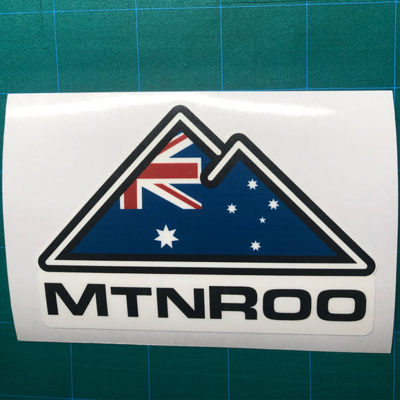 MtnRoo Australia Flag Sticker