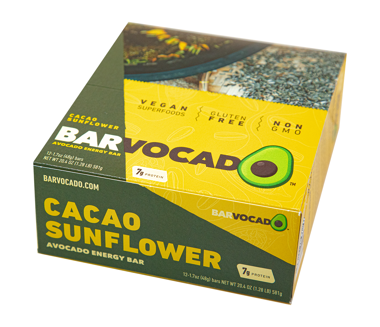 Cacao Sunflower: 12 Bar Box