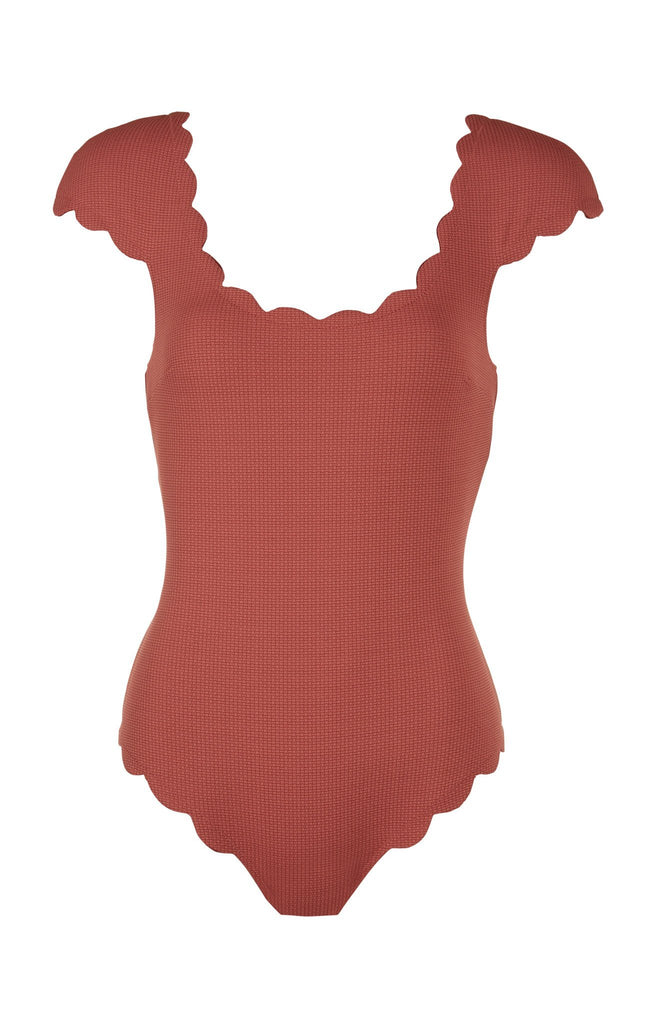 Marysia SCALLOPED MEXICO MAILLOT IN ANTELOPE