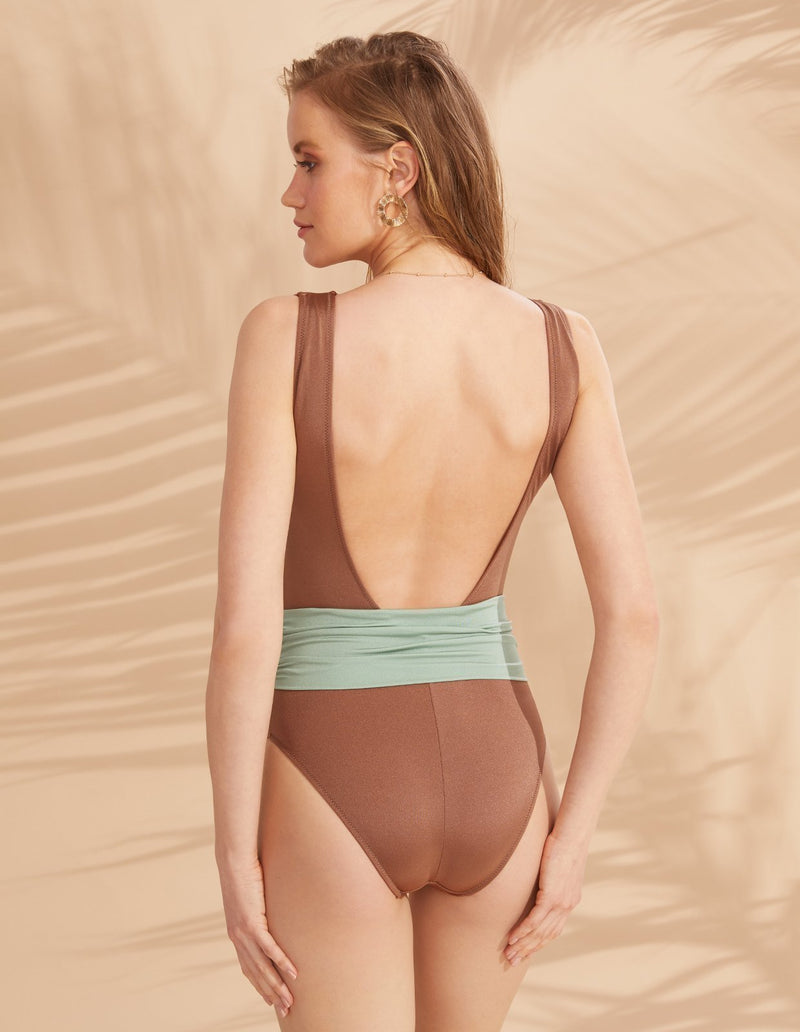 Designer Brand: Lily & Rose Product: Bianca One Piece Swimsuit - Pastel
