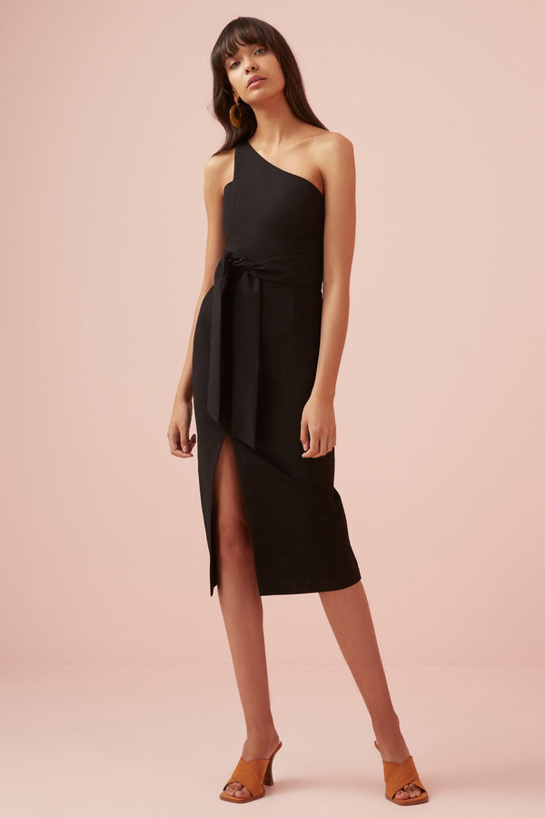 Designer Brand: Finders Keepers Product: Francis One Shoulder Dress - Black