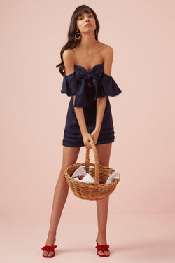 Designer Brand: Finders Keepers Product: Limoncello Mini Strapless Dress - Navy