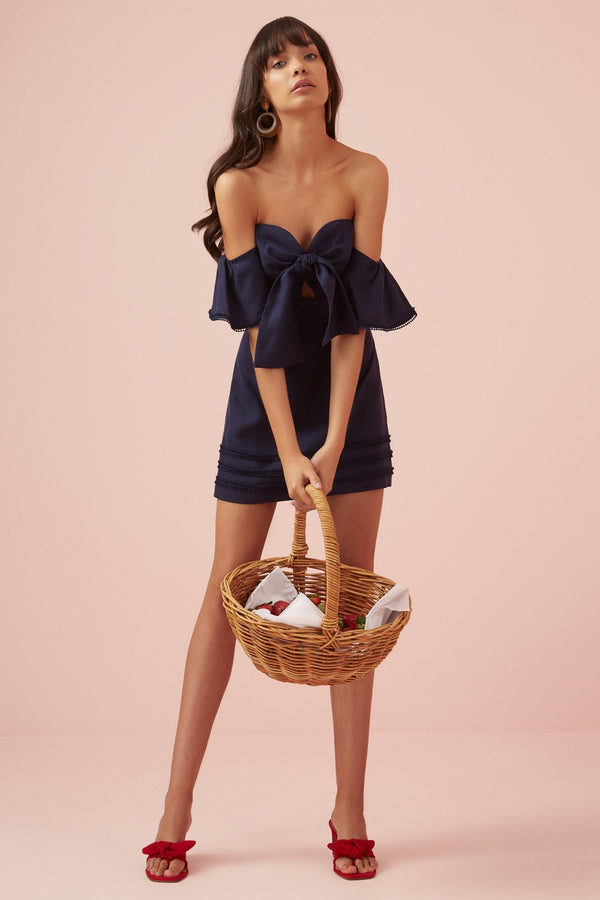 Designer Brand: Finders Keepers Product: Limoncello Mini Dress - Navy