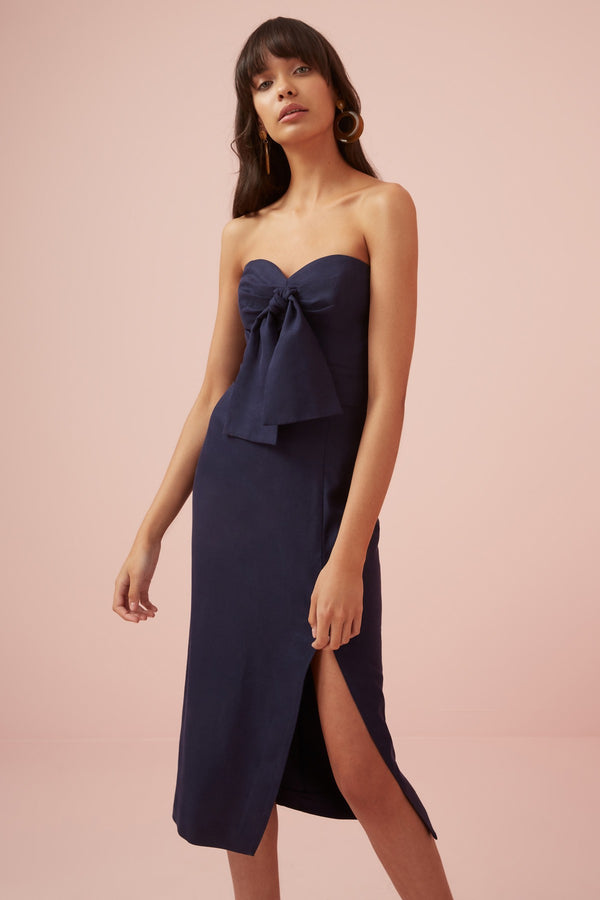 Designer Brand: Finders Keepers Product: Limoncello Strapless Dress - Navy