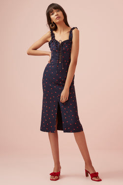 Designer Brand: Finders Keepers Product: Lola Dress - Navy & Strawberry