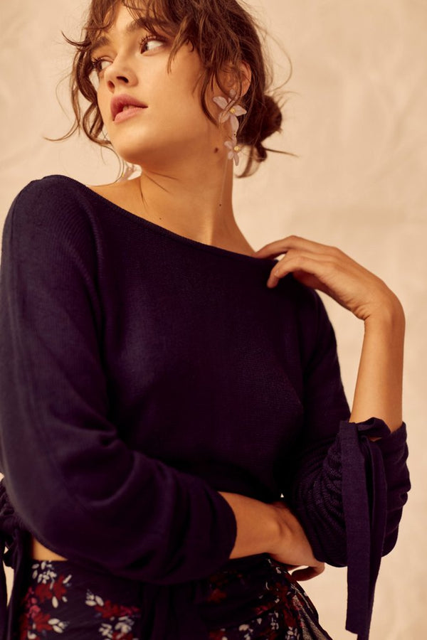 Designer Brand: Keepsake The Label Product: Keepsake So Good Knit Top - Navy