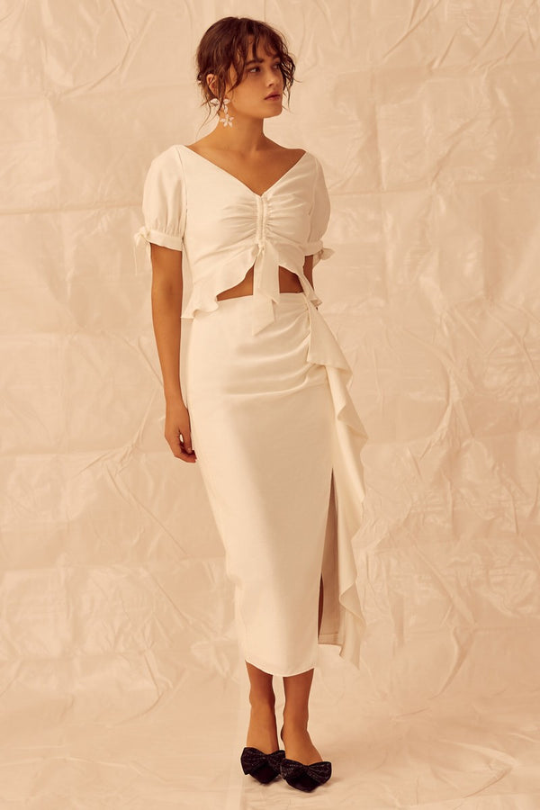 Designer Brand: Keepsake The Label Product: Keepsake Luminous Skirt - Ivory