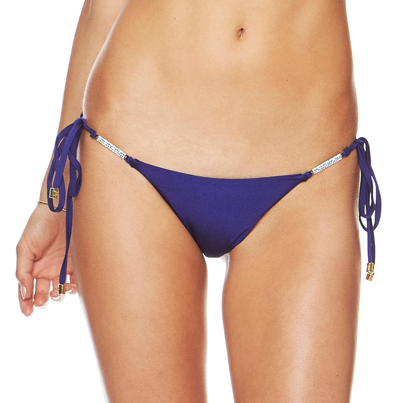 Designer Brand: Beach Bunny Product: Beach Bunny Material Girl Tie Side Bottom – Blue