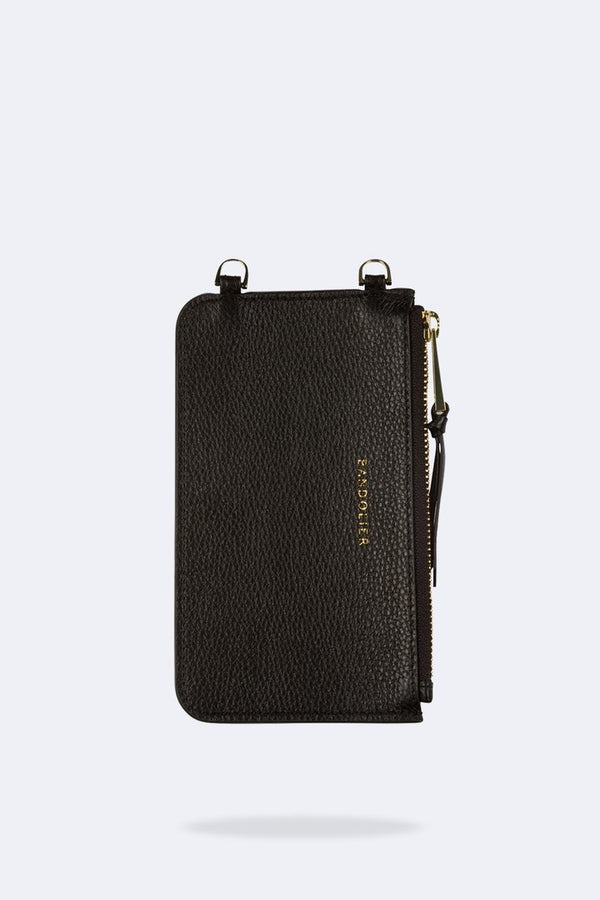 Designer Brand: Bandolier Product: Bandolier Emma Pebbled Leather Pouch - Black