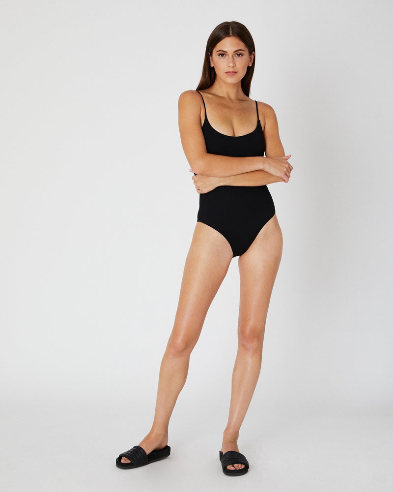 Designer Brand: Onia Product: Onia Gabriella One Piece Swimsuit - Black