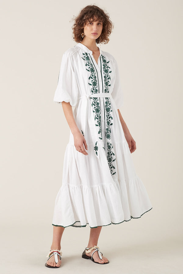Designer Brand: Tigerlily Product: Tigeriliy Villaya Embroidered Tiered Maxi Dress