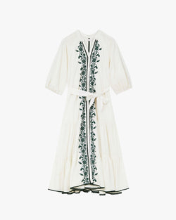 Designer Brand: Tigerlily Product: Tigerlily Villaya Embroidered Tiered Maxi Dress