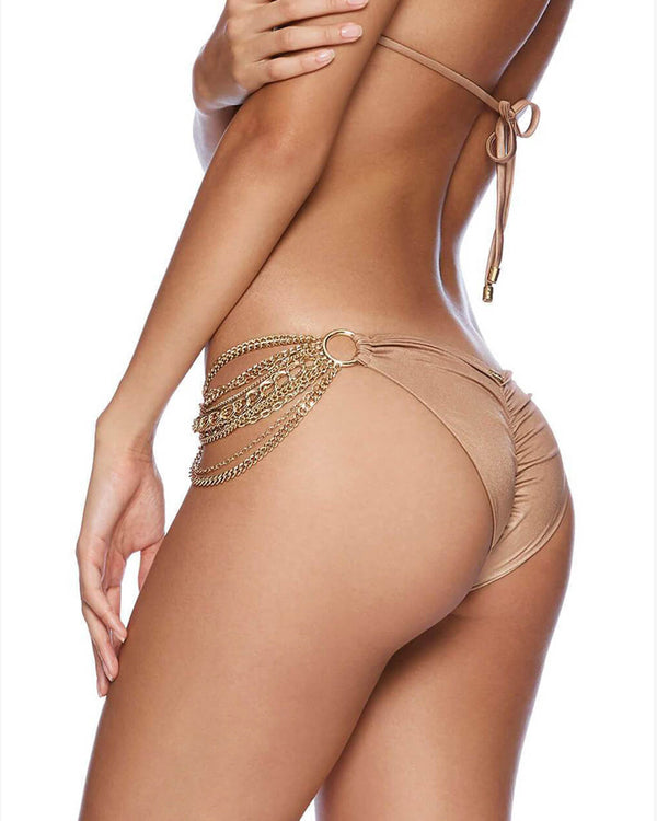 Designer Brand: Beach Bunny Product: Beach Bunny Ball & Chain Bottom – Brown Sugar