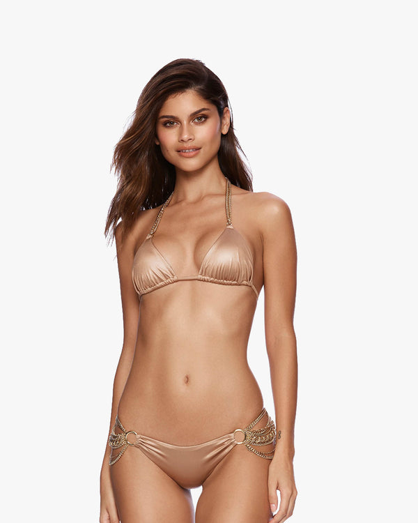 Designer Brand: Beach Bunny Product: Beach Bunny Ball & Chain Triangle Top - Brown Sugar