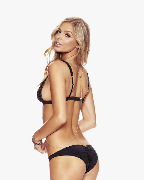 Designer Brand: Beach Bunny Product: Beach Bunny Basic Hipster Bottom – Black