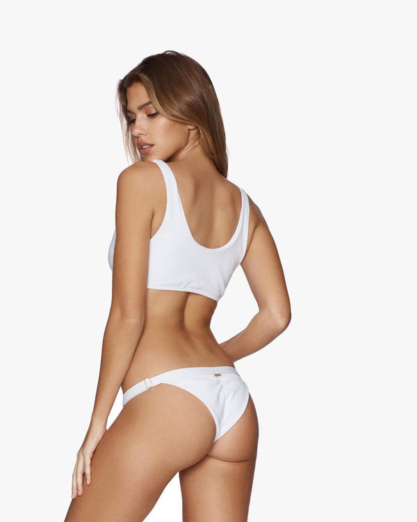Designer Brand: Beach Bunny Product: Beach Bunny Rib Tide Adjustable Bottom –White