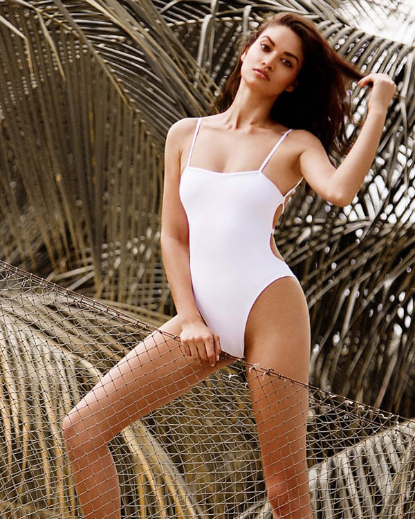 Designer Brand: Beach Bunny Product: Beach Bunny Luna One Piece Swimsuit – White