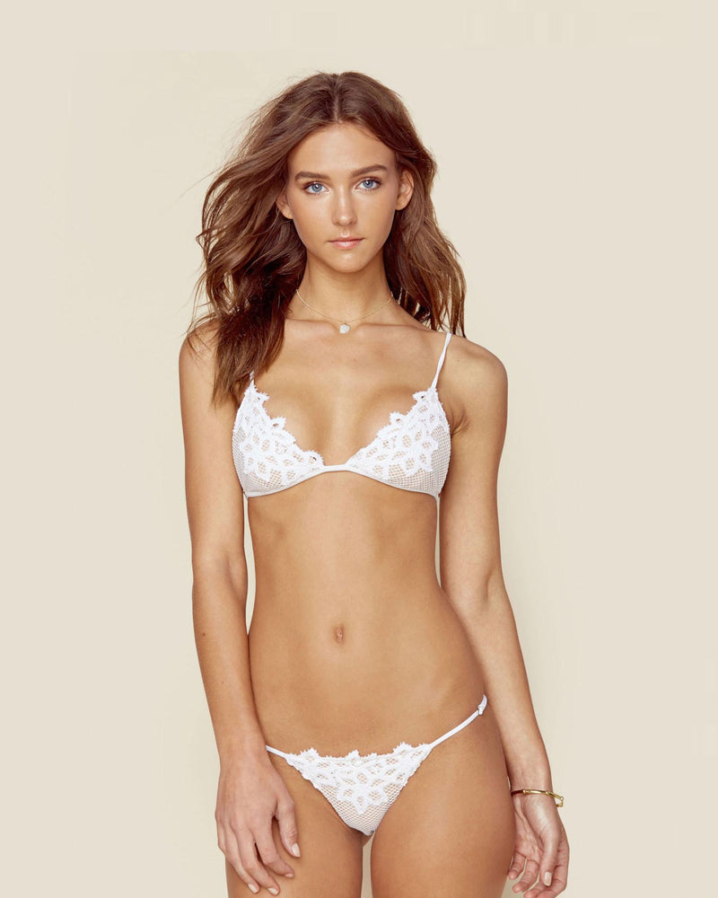 Designer Brand: Blue Life Product: Blue Life Bridal Magnolia Adjustable Bikini Bottom