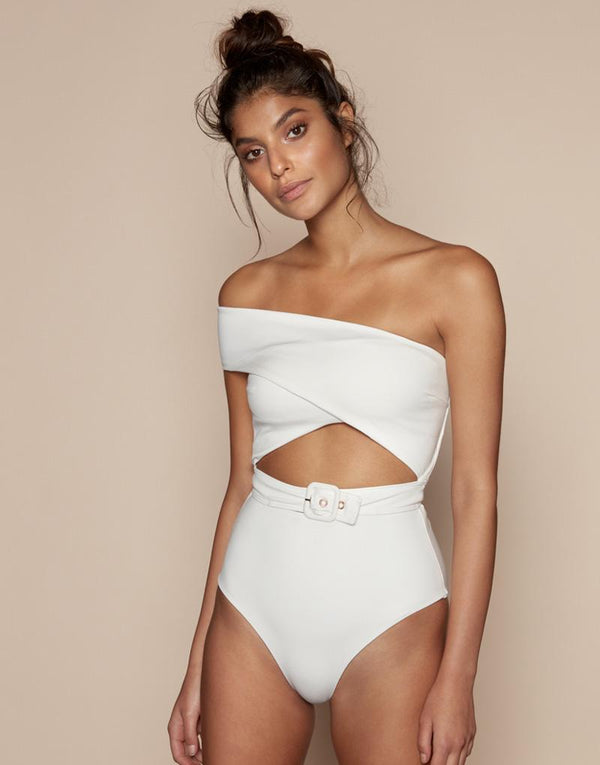Designer Brand: Kopper & Zink Product: Kopper & Zink Cleo Belted One Piece Swimsuit