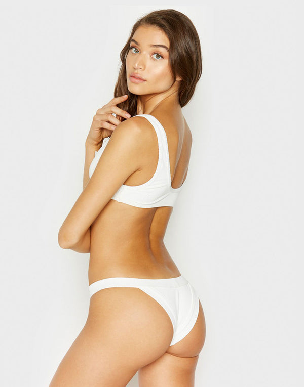 Frankies Bikinis Cole Bottom - White