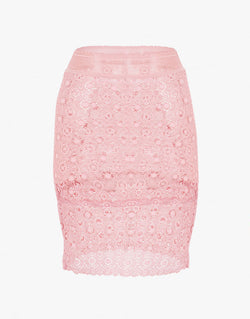 Designer Brand: Else Product: Else Coachella Lace Pink Pencil Skirt Slip