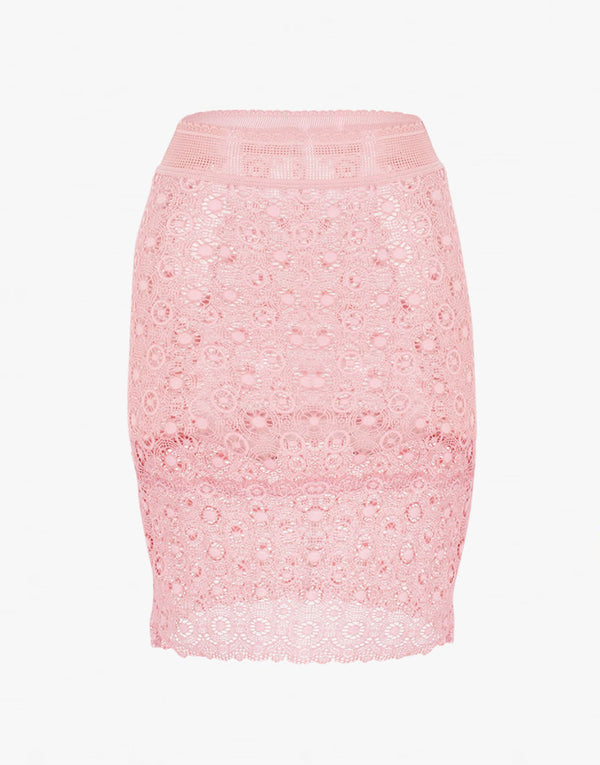 Else Coachella Lace Pink Pencil Skirt Slip - PEEPING-T