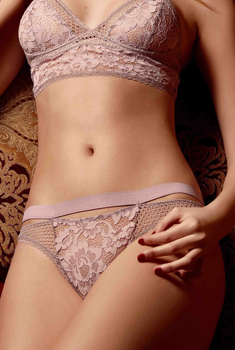 Designer Brand: Else Product: Else Petunia Antique Rose Lace Thong
