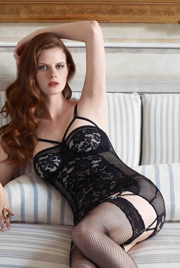 Else Petunia Black Lace Fitted Slip