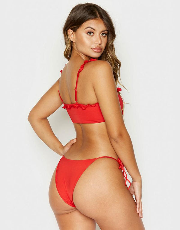 Frankies Bikinis Mckenzie Bottom - Red