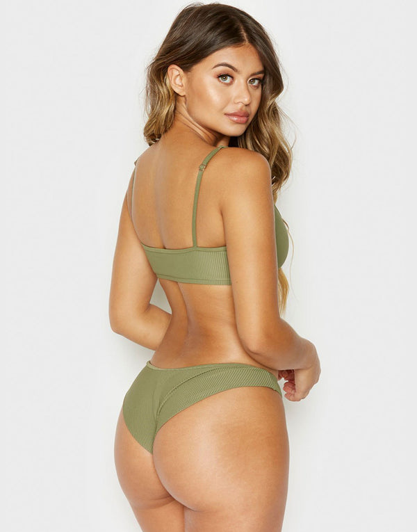 Frankies Bikinis Greer Bottom - Olive