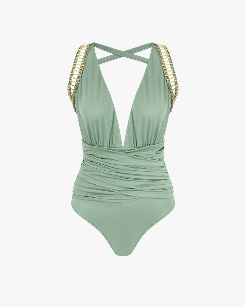 Designer Brand: Lily & Rose Product: Vendetta One Piece Swimsuit - Breeze