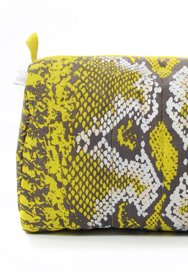 Mercy Delta Python Lime Medium Cosmetic Bag - Travel Essentials - PEEPING-T